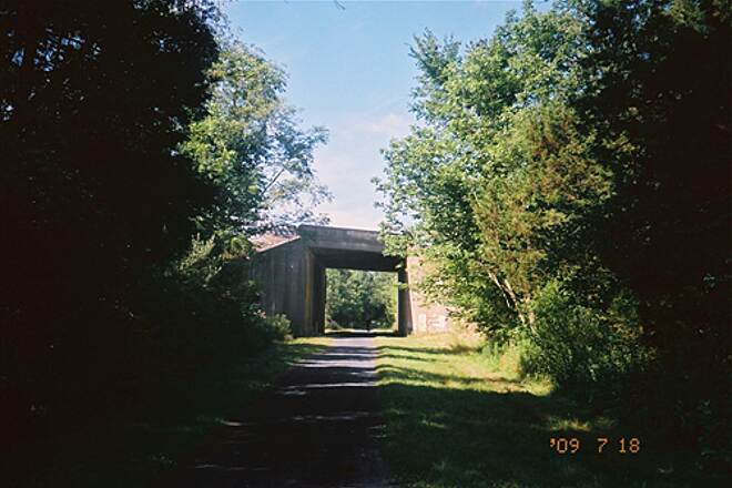 Lebanon Valley Rail-Trail  The trail passes under the PA Turnpike