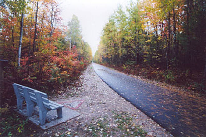 Leelanau Trail Rest on a bench and view the fall colors!