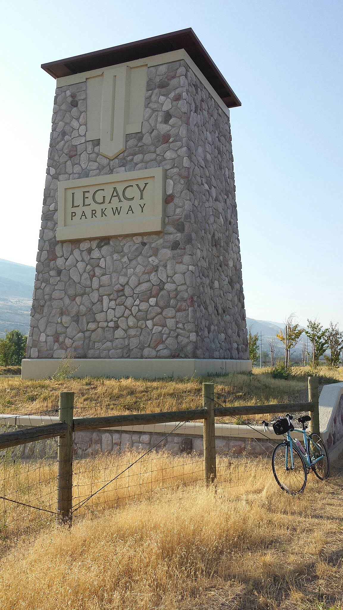 Legacy Parkway Trail Legacy Trail Sign Taken just before Glover Lane going south toward Centerville, UT.