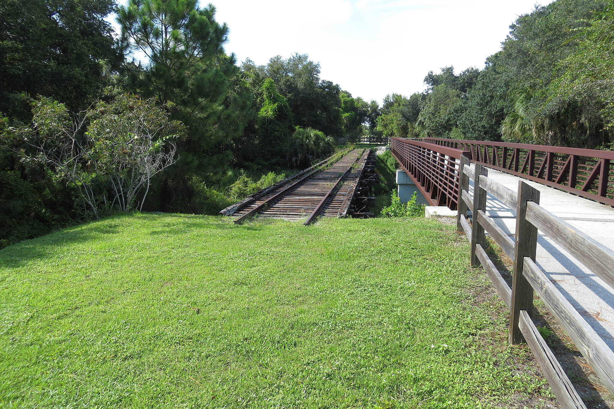 Legacy Trail (FL) Legacy Trail The rail-trail offers a glimpse of the old railroad track.
