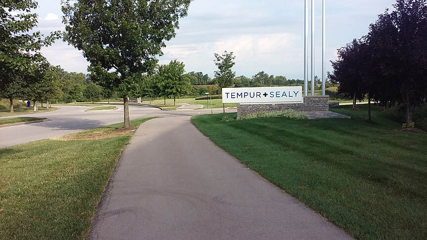 Legacy Trail (KY) Clockwise Aug 2015 Front of Tempur-Sealy office building