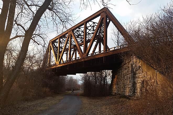 Lehigh Valley Trail Lehigh Valley Trestle Crossing 2/22/17   57° F