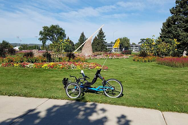 Leonard Swanson Memorial Pathway At the Sun Dial This picture was taken along the LS Memorial Pathway at the sun dial, part of the Sioux Park Formal Gardens.  Located at the Sioux Park Trail Head in West Rapid City