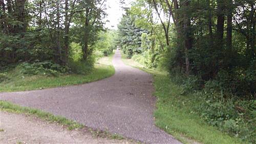 Lester Rail Trail Side trail to Career Center