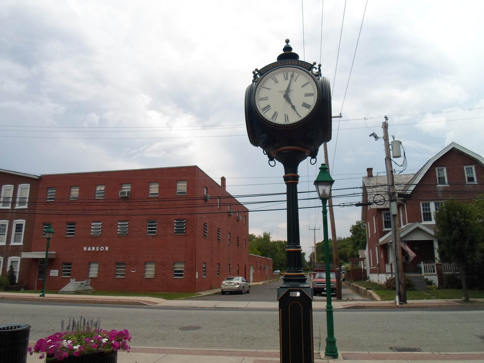 Liberty Bell Trail Liberty Bell Trail Town clock at the northern terminus of the trail at Broad Street in Hatfield.