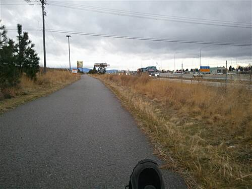 Liberty Lake Stateline Trail Along the trail This pic shows the proximity between the trail and I-90