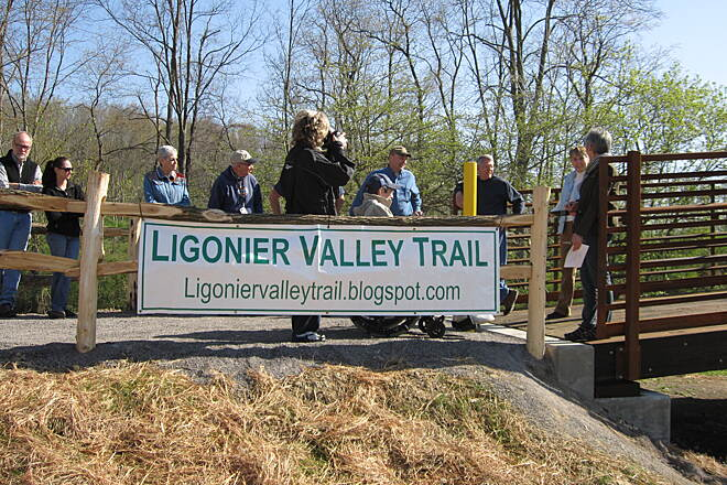 Ligonier Valley Trail April 27, 2013 Ribbon cutting event at the new bridge.