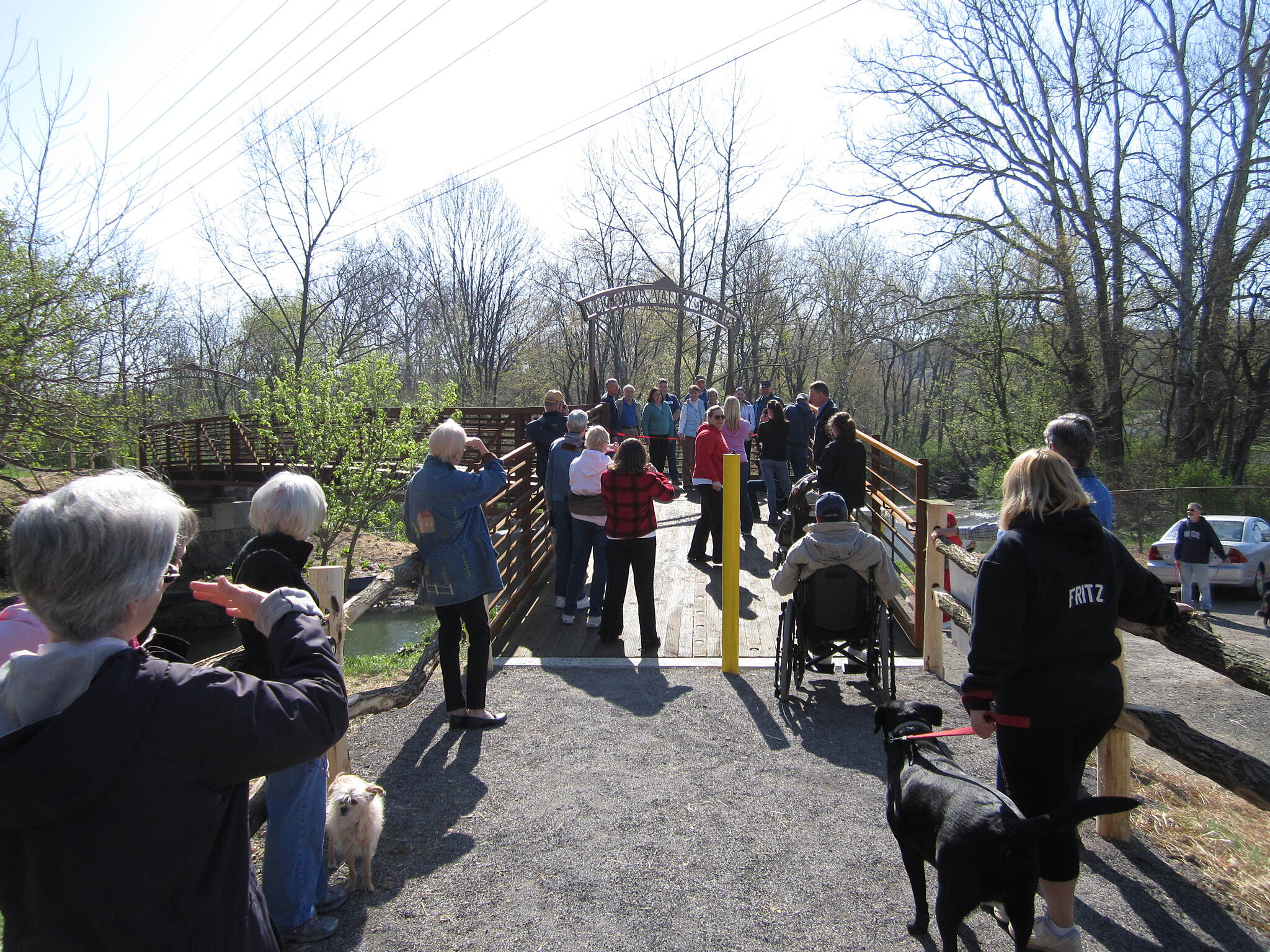 Ligonier Valley Trail Great crowd for ribbon cutting