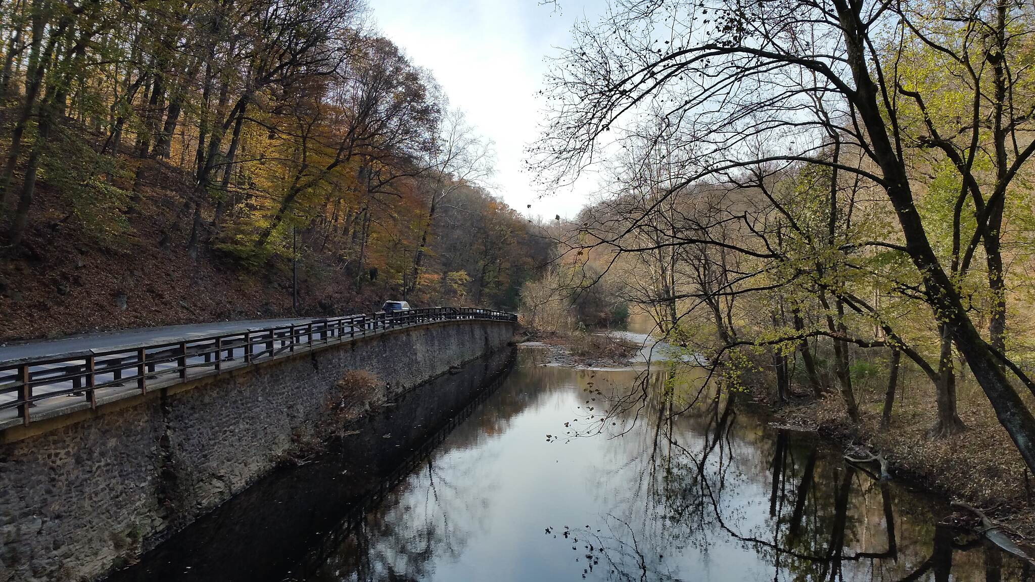 Lincoln Drive Trail  Over Looking The Wissahickon Creek. Photo was taken on an access bridge just off the trail.