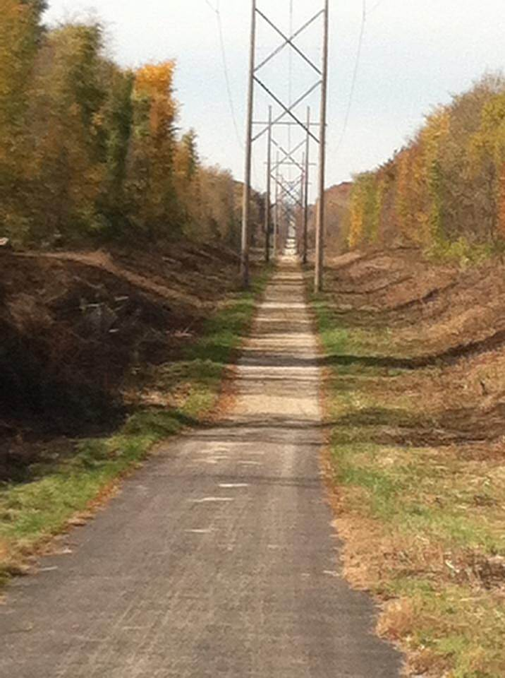 Lincoln Prairie Grass Trail Beautiful November Day Pedaling between Mattoon Il. & Charleston