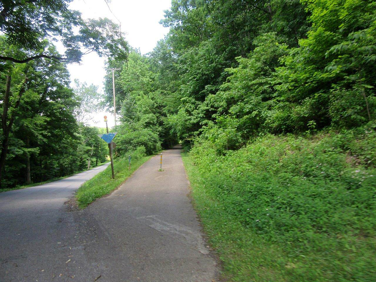 Little Beaver Creek Greenway Trail Uphill section Coming from Lisbon to Leetonia.  Uphill climb from about miles 4-6.  Enjoy the ride downhill on the return trip!