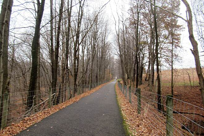 Little Beaver Creek Greenway Trail Trail - November 2019.  Nice paved trail is flat!