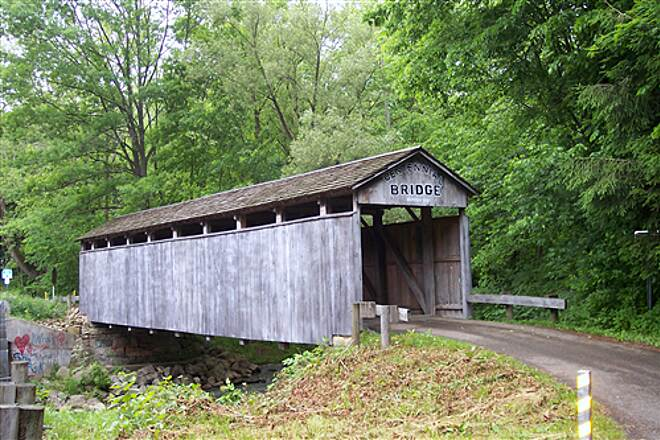 Little Beaver Creek Greenway Trail Centennial Covered Bridge Follow The Signs On The Trail To Ride Over This Old Restored Covered Bridge.