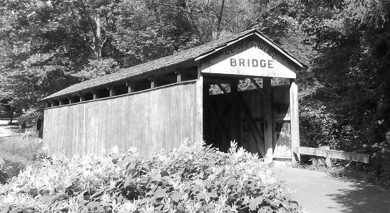 Little Beaver Creek Greenway Trail Teegarden Covered Bridge Just off the trail be sure to stop here!