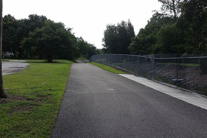 Little Econ Greenway Goldenrod road access to trail The river is just a ditch in this area.  Trail behind peoples homes