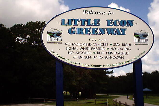 Little Econ Greenway Jul-01 The welcome sign.