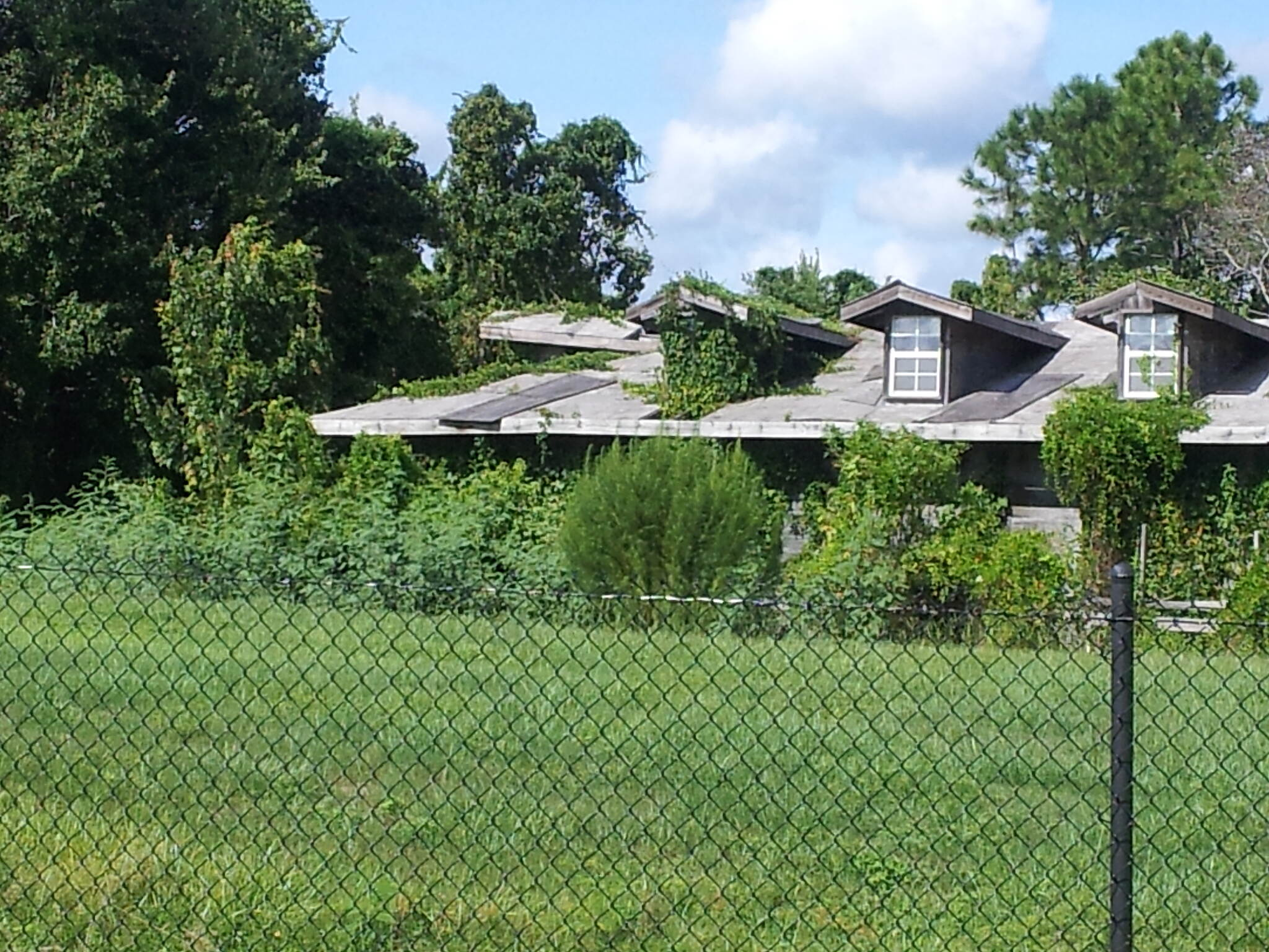 Little Econ Greenway Old house along E entry This old abandoned house on the eastern portal as you turn off of Lokanotosa Trail.