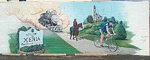 Little Miami Scenic Trail Mural in Xenia 09-27-2013