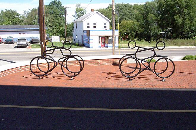 Little Miami Scenic Trail Xenia bike racks on Detroit St Xenia bike racks on Detroit St Sept 2014