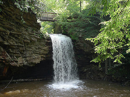Little Stony National Recreation Trail Little Stony Falls - Upper Went down to the waters edge for this one.
