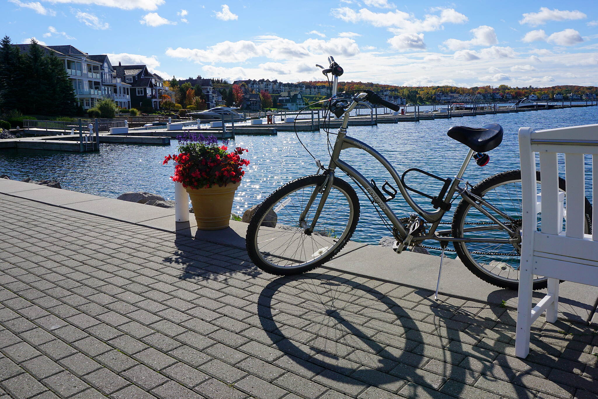 Little Traverse Wheelway Bay Harbor Late October 2016 We started our ride in Bay Harbor and biked to Petoskey. It was gorgeous!