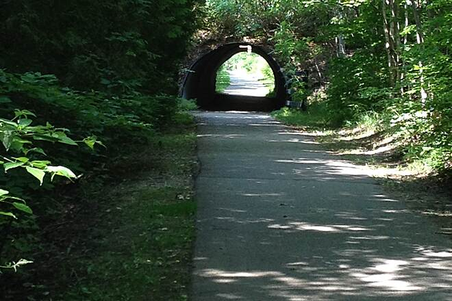 Little Traverse Wheelway LTWHW 7/2014 A very cool little tunnel. This trail just about has it all!