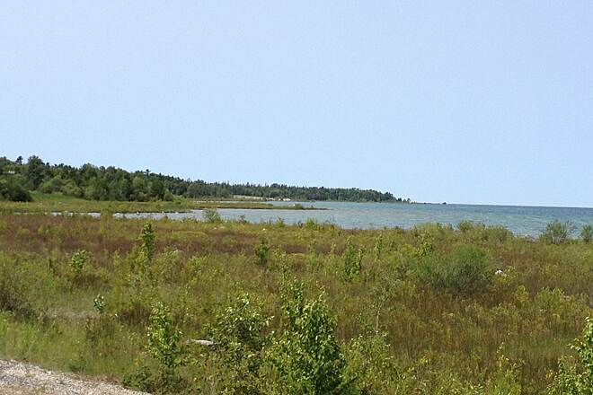 Little Traverse Wheelway LTWHW 7/2014 Bay View at Big Rock Point road side rest area. 7/2014