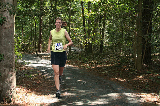 Loblolly Trail Trail Runner Adventure Race runner on the Loblolly Trail, Trap Pond State Park