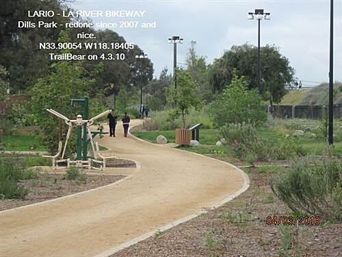 Los Angeles River Trail LARIO - LA River Bikeway Section Dills park has been redone since 2007.