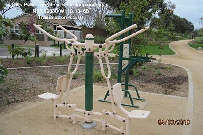 Los Angeles River Trail LARIO - LA River Bikeway Section Dills Park - stop in for a work out.