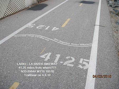 Los Angeles River Trail LARIO - LA River Bikeway Section Where did they start the count?  More miles than trail.