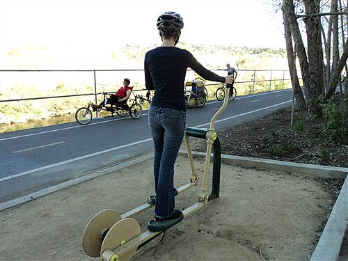 Los Angeles River Trail  Trail-side exercise equipment