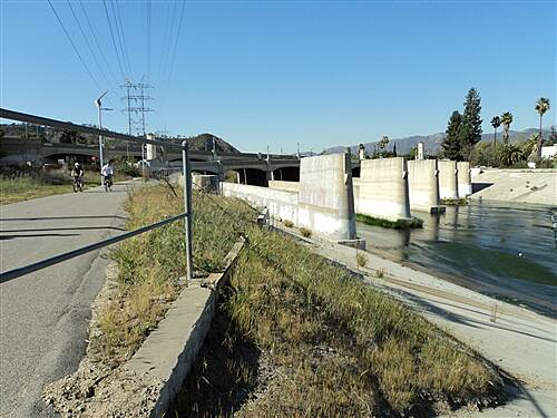 Los Angeles River Trail  Glendale Blvd. and Hyperion Ave. bridges