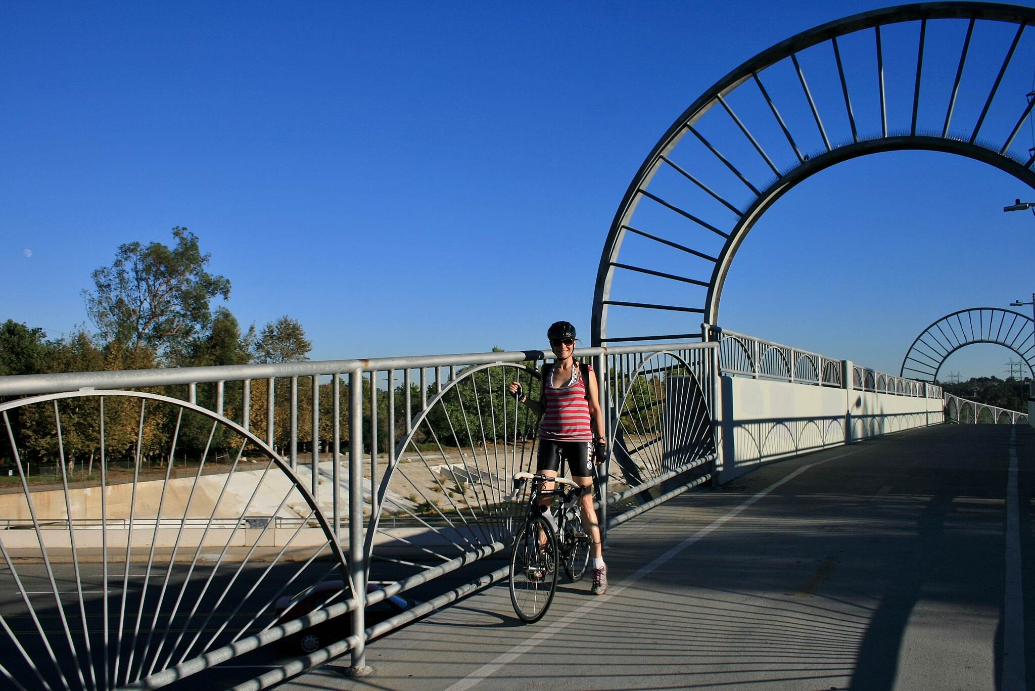 Los Angeles River Trail The Alex Baum Bicycle Bridge in Los Feliz