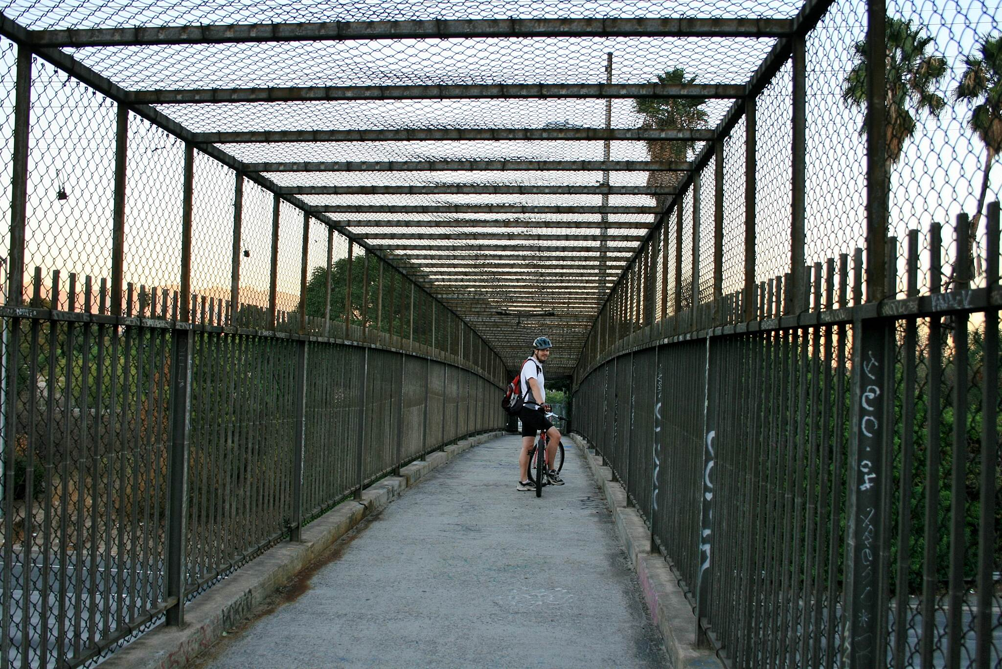 Los Angeles River Trail Bridge over the 5 Freeway