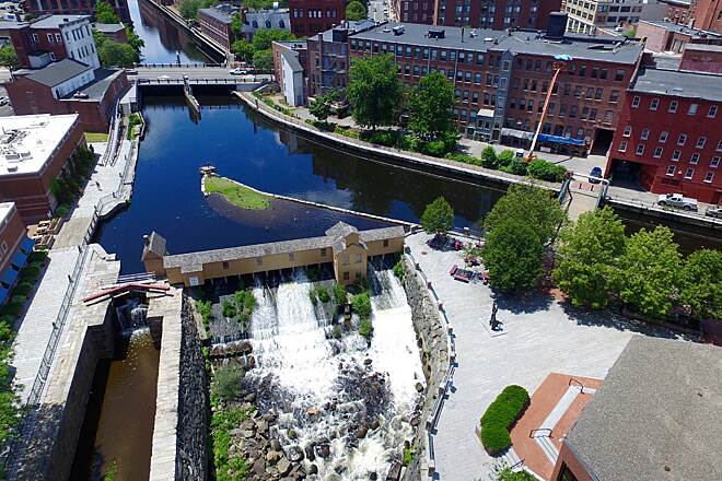 Lowell Canal System Trails Lowell Canal By Jamie Boudreau Airgoz Aerial Photography