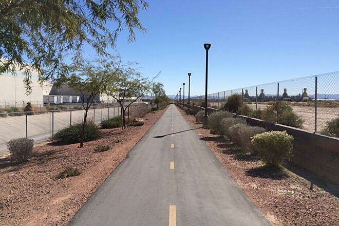 Lower Las Vegas Wash Trail Heading South After Craig Road