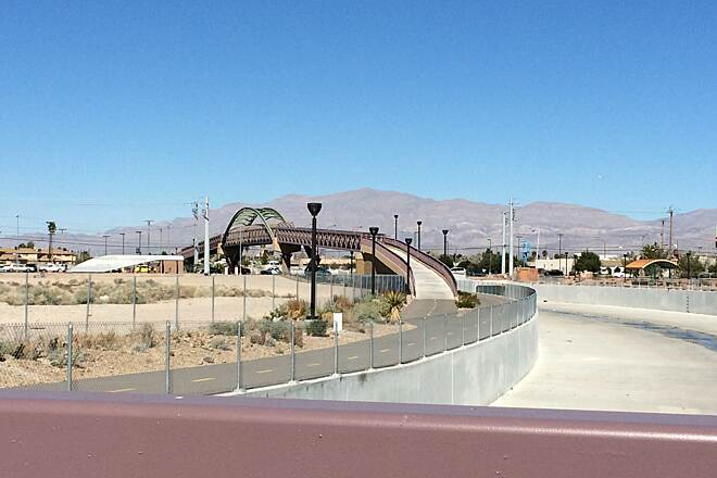 Lower Las Vegas Wash Trail Bridges over larger roads