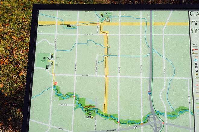 Lower Rouge River Recreation Trail Well marked with maps also