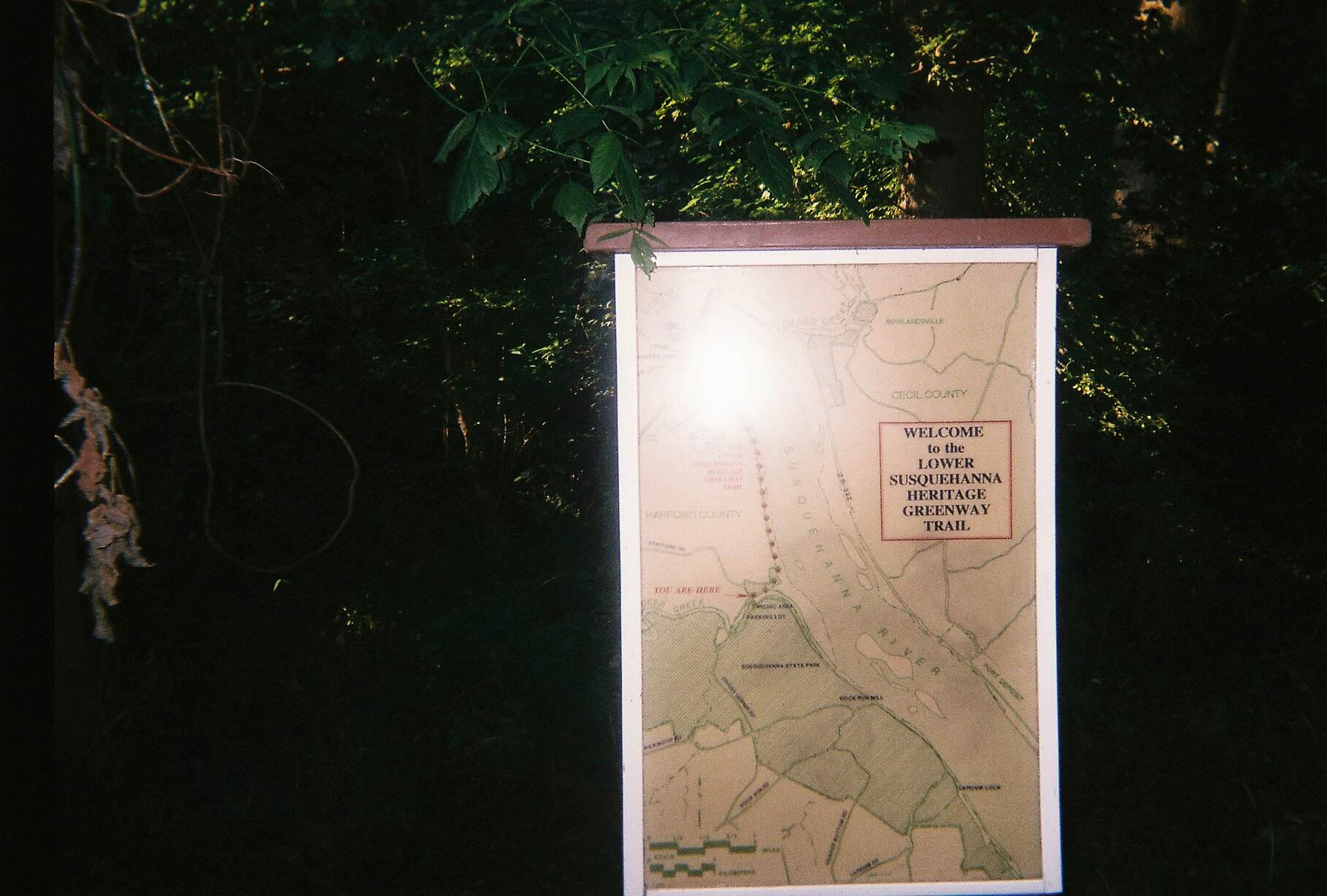 Lower Susquehanna Heritage Greenway Trail Lower Susquehanna Heritage Greenway Trail Map of the trail located off Stafford Road next to the flint furnace. The dotted line represents the northern, multi-use portion, while a solid line shows the more primitive, southern section.