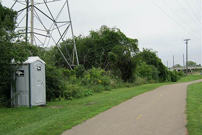 Luce Line Trail Bassett's Creek Trail #4 Facilites are located near big power lines