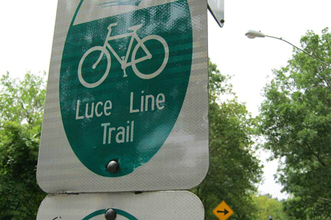 Luce Line Trail Bassett's Creek Trail #8 All of the signs read 'Luce Line Trail' on this ride
