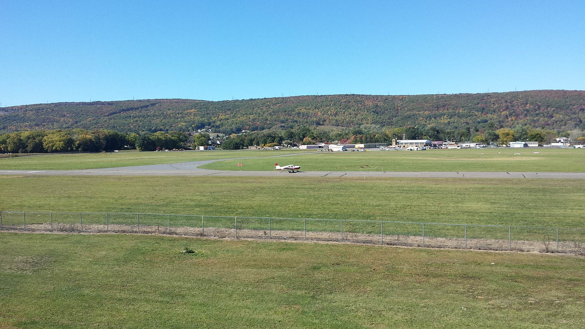 Luzerne County Levee Trail Airport nice view overlooking small airport adjacent to the trail