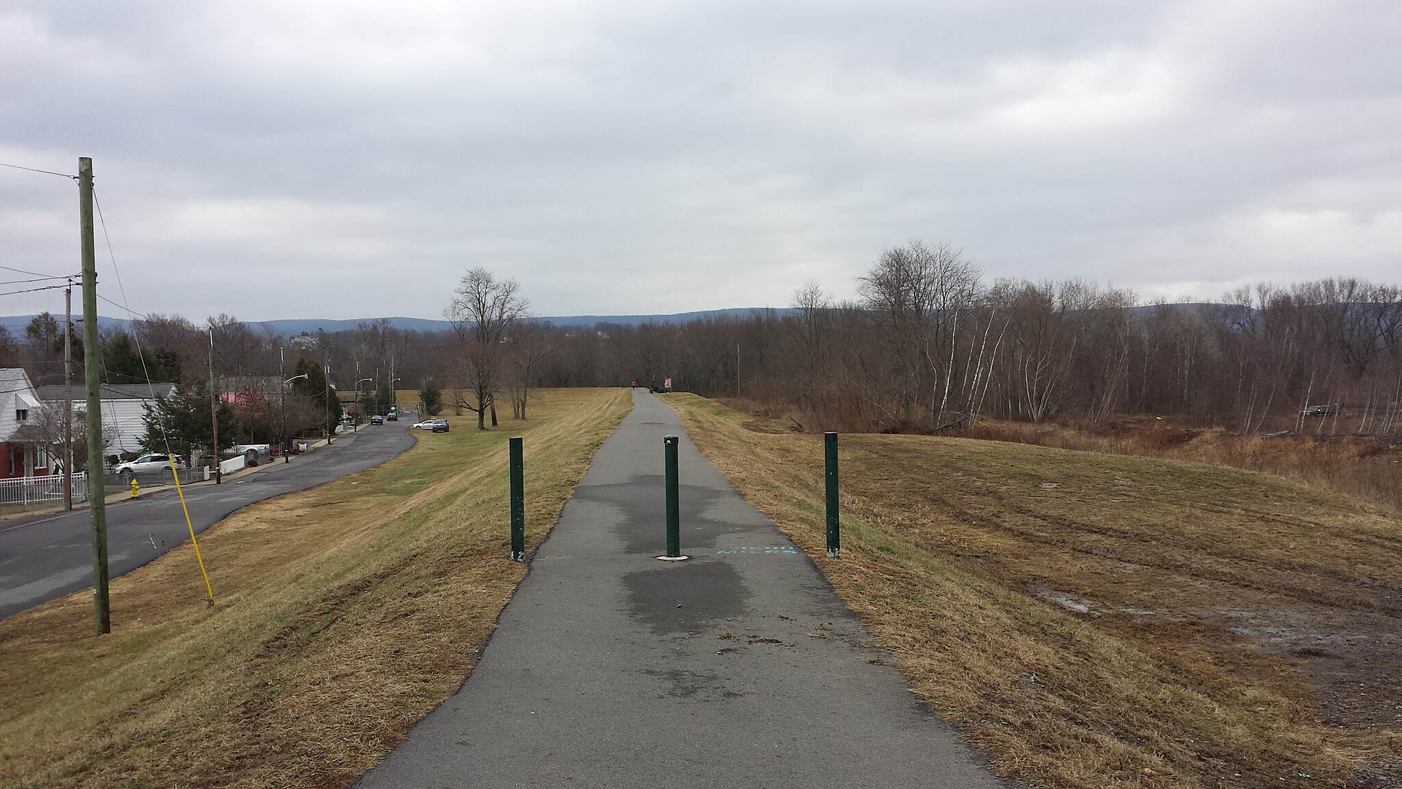 Luzerne County Levee Trail End of Trail Eventually this is where the Susquehanna Warrior Trail would connect to the Levee Trail.