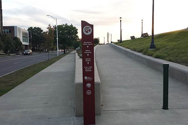 Luzerne County Levee Trail Wayfinding Signage along the way to keep you headed in the right direction.
