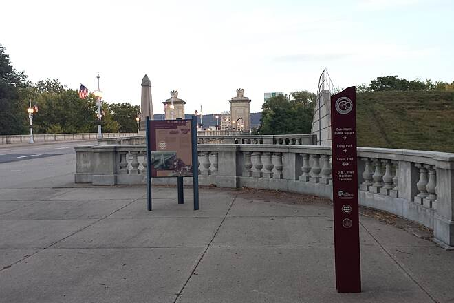 Luzerne County Levee Trail Market Street Bridge The Market Street Bridge is one of several pedestrian friendly river crossings.