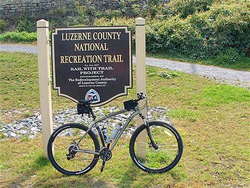 Luzerne County National Recreation Trail Trail Sign Starting point