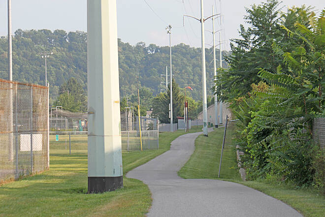 Lycoming Creek Bikeway Lycoming Creek Bikeway a ball field on the left? In Williamsport, really?