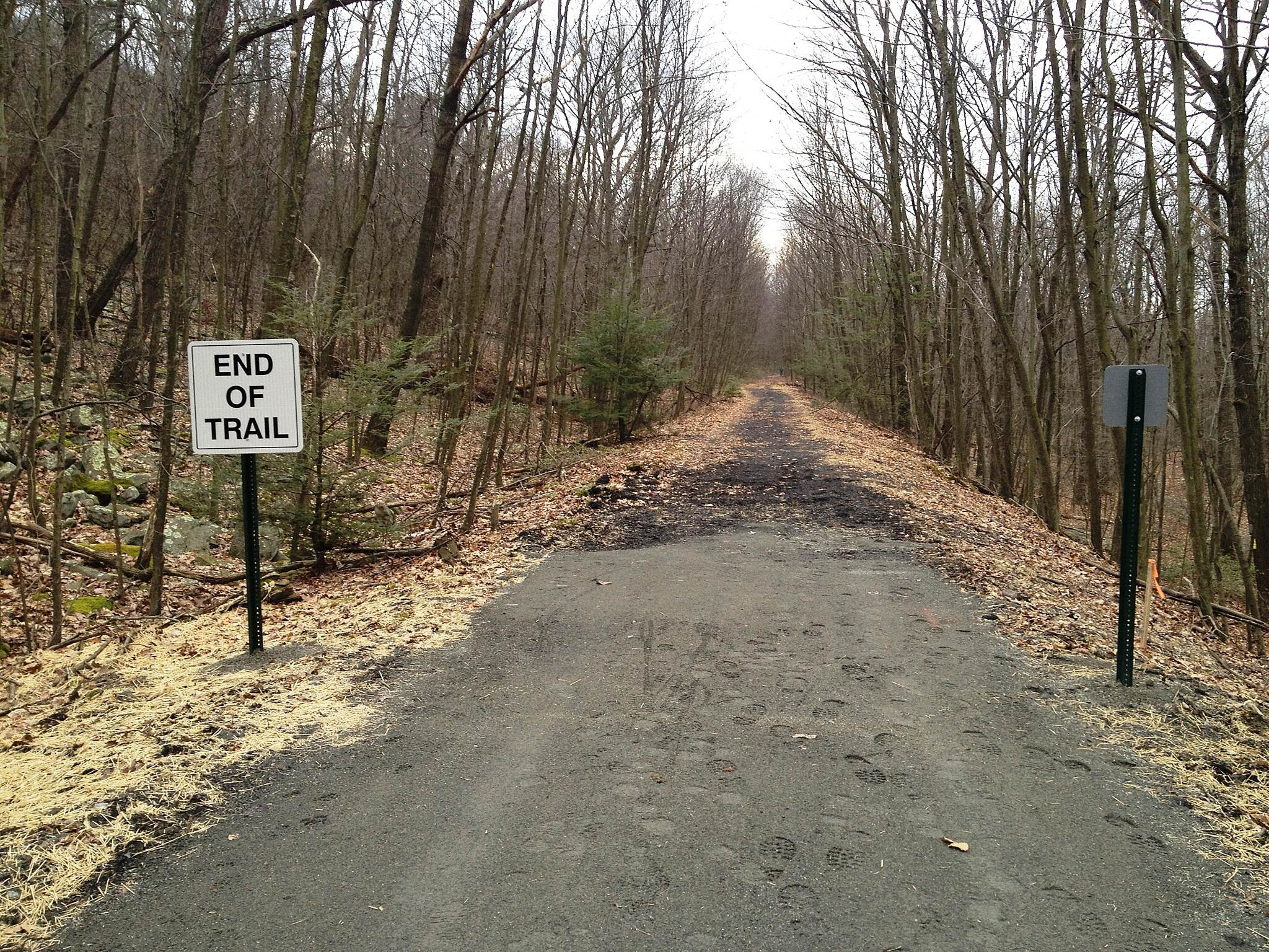 Lykens Valley Rail Trail Trail's end west of Lykens