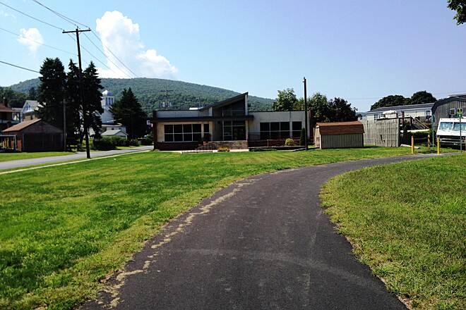Lykens Valley Rail Trail Trail at the library